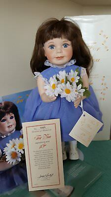 """Hamilton Collection Porcelain Doll """"For You"""" 15""""tall by Donald Zolan NEW in BOX"""