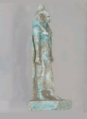 Egyptian Faience Blue Statue Of Cleopatra