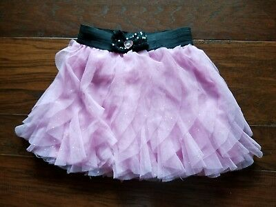 Girls Pink Sparkly Skirts Size 6