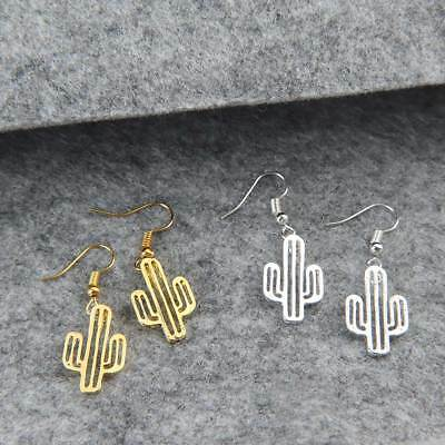 Cute Lovely Fashion Jewelry Dangle Earring Cactus Design Alloy Drop Earring