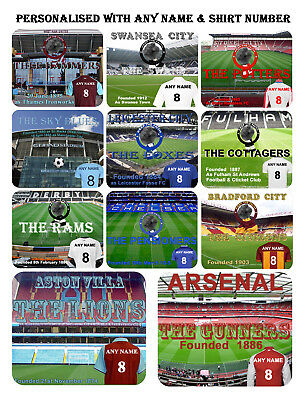 #Football Teams #Personalised #Mouse Mat, Laptop, Desktop, Birthday, Gift, sm2