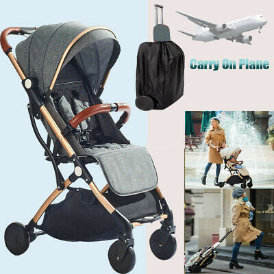 Foldable Portable Baby Stroller Pram Compact Lightweight Travel System Pushchair