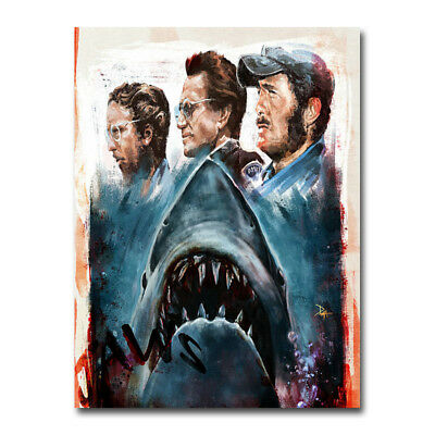 JAWS Hot Movie Art Canvas Poster 8x11 24x32 inch