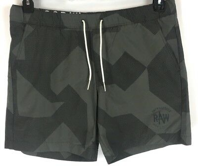 e14a914ee4 G Star Raw Mens Pragly Beach Shorts Swim Trunks Gray Textured Camo Size XL  NWT