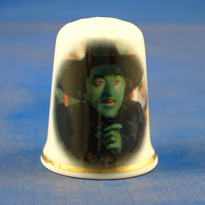 Fine Porcelain China Thimble - Wizard Of Oz Wicked Witch