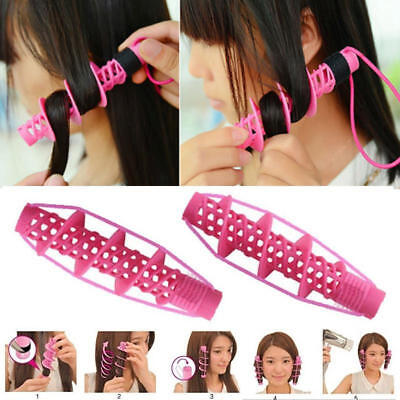 23AD 2PCS Magic Hair Styling Curlers Rollers Large Hairdressing DIY Tool Clip