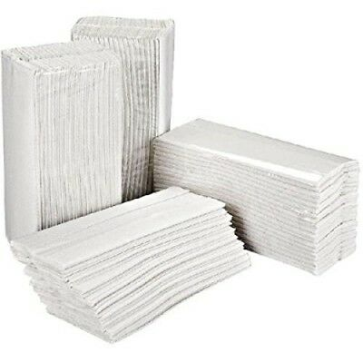 Essentials C-Fold Hand Towel, White, Pack of 2400
