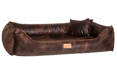 Tierlando Orthopedic Dog Bed Alberto Ortho Faux Lether - Antique and Modern