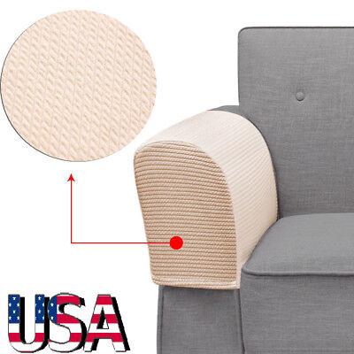 Sofa Arm Protectors Armrest Covers Stretchy Set Stretch To Fit Chair