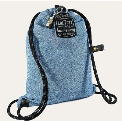 Loctote Flak Sack Sport 9 in. Blue Backpack with Theft Proof Features