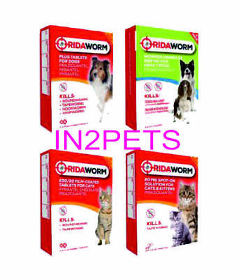 RidaWorm Cat & Dog Multi Worm Tablets, Granules & Spot On Alternative To Vets