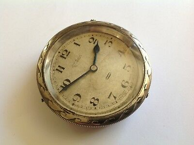 Art Deco Stadium L Sandoz Vuille Swiss Made 8 Day Car Clock-Spares Or Repairs.