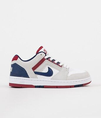 finest selection 6e8fb 84c57 Nike SB Air Force II Low Shoes AO0300-100 White Blue Red White SKATE SHOE