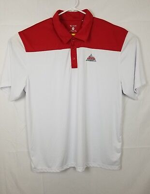Men's Coors Light Beer Clique Dry Fit Golf / Polo Shirt 3XL New Red / White
