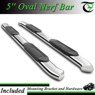 "5"" Curved Oval S.S Nerf Bar Running Board Fit 2004-2008 Ford F-150 SuperCrew Cab"