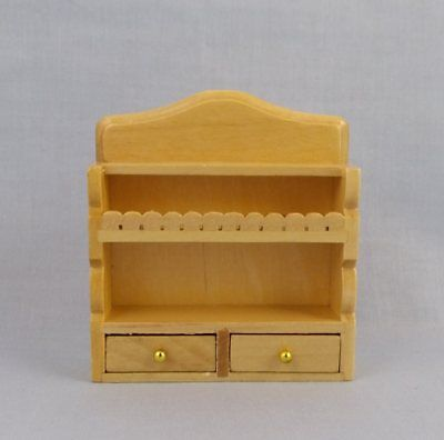 1/12th scale Dolls House Miniature Pine Kitchen or Bathroom Wall Shelves