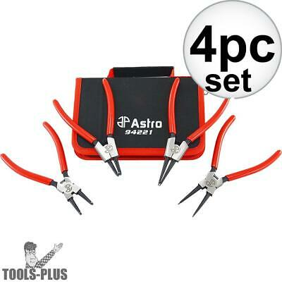 "Astro Pneumatic 94221 4pc 7'' Internal External Cr-V Snap Ring Pliers 0.067"" New"