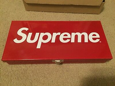 Supreme Large Metal Storage Box Red Box Logo SS17 *used*