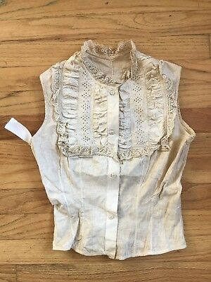 1880s VICTORIAN eyelet corset cover camisole vintage 1800s MUSEUM tag