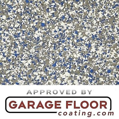 """20 lbs Decorative Color Chip Flakes for Epoxy Floor Coating, 1/4"""" Blend CCB-005"""