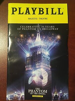 PHANTOM OF THE OPERA 30th Anniversary Broadway Playbill NEW RARE LIMITED EDITION