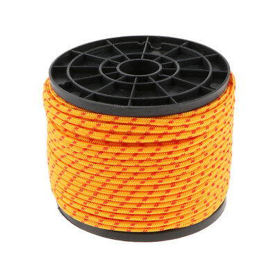 Orange 3.5mm Strong Durable Tarp Tent Guy Line Outdoor Packaging Rope 164ft