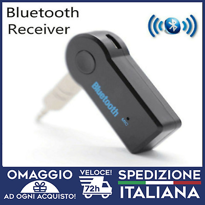 Wireless Bluetooth 3.5mm AUX per auto vivavoce iphone ANDROID