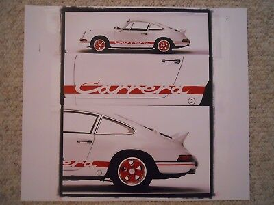 1998 Porsche 911 Carrera RS Coupe Showroom Advertising Poster RARE! Awesome L@@K