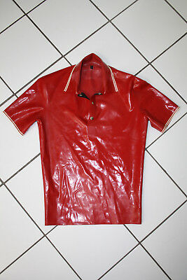 Rubber / Gummi Polo Shirt - RubAddiction (ähnl. Blackstyle) - Gr.S - Bordeaux