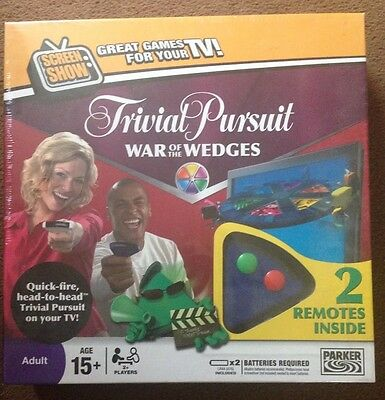Trivial Pursuit The War Of The Wedges Game Brand New, Factory Sealed