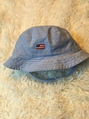 a14041b493d JANIE AND JACK Chambray American Flag Baby Bucket Hat with velcro strap -   8.00