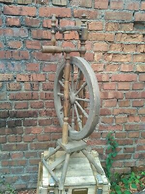 Antique Wooden Spinning Wheel Charka Country Folk Primitive Old 45 in