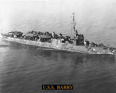 United States Navy Transport Uss Barry Apd29  Photo With Bonus Stats