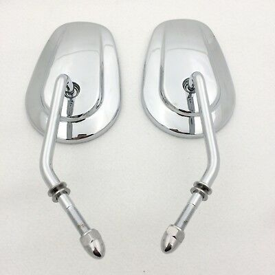 Custom Chrome Big Size Mirrors For Fits 1982-Later Harley Davidson