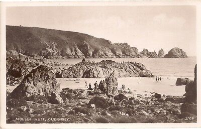 Superb Scarce Old Real Photo Postcard - Moulin Huet - Guernsey C.1945