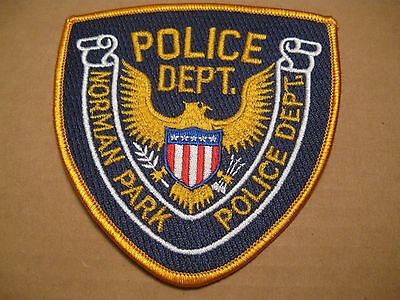 Norman Park Georgia Police Patch (Stock Eagle)