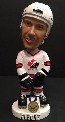 Vintage 2002 THEO FLEURY Team Canada Olympic Gold Medal Hand Painted Bobble Head