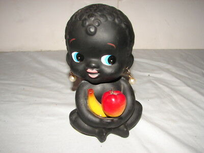 Vintage Kenmar Bank Made In Japan Black Americana Bobblehead Baby Girl