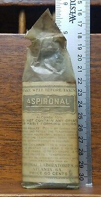 SEALED Antique ASPIRONAL CREOTINE LAXATIVE & HAYFEVER TONIC Medicine Quack Cure