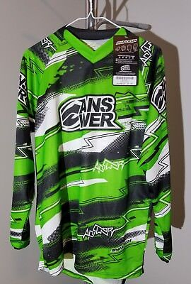 Answer Racing Gear Syncron A12 Green/black Mens Sz: S Jersey *New with Tag*