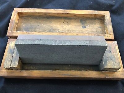 Knife Sharpening Stone In Wooden Box - Double Sided  - 15 X 5 Cm