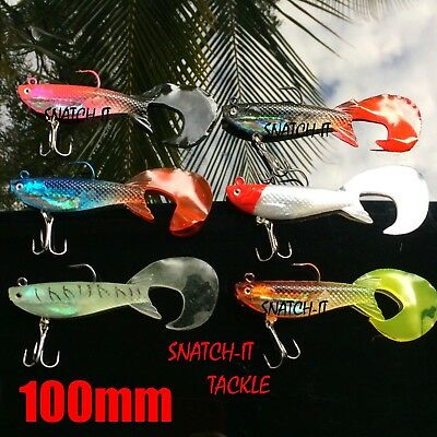 Soft Plastic Freshwater Lures Mullet Flathead Jig Heads Fishing Curly tail Lure