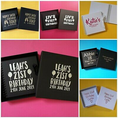 Personalised Scrapbook - Birthday 1st 18th 21st 30th 40th 50th 60th - Gift Box