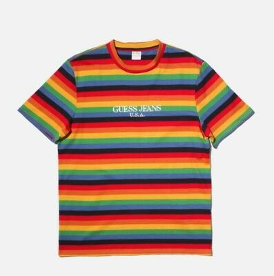 ee05fbecc6d Guess Jeans Sean Wotherspoon Farmers Market Striped T-Shirt Multi Color Size  XL