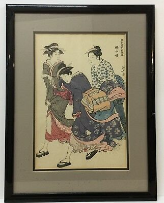 Japanese Woodblock Print Antique  Geisha of the Tachibana picture