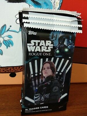 2016 Topps Star Wars Rogue One Series One 6x Jumbo Pack lot (trading cards)