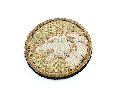 Military Velcro Airsoft Patch / Wolf / TAN