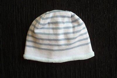 Baby clothes BOY 3-6mNEW NEXT soft fleecy inside,blue knit striped hat SEE SHOP!