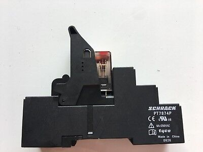 Schrack PT 570730 Relay And Socket 6 Amp.