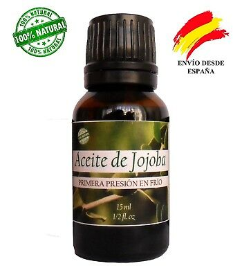 Aceite de Jojoba virgen orgánico, 15 ml. Organic Jojoba virgin oil 1/2 fl.oz